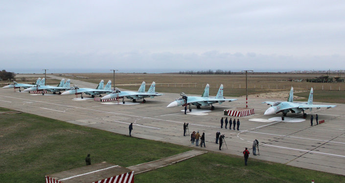 New equipment arrives at Belbek airfield in Crimea