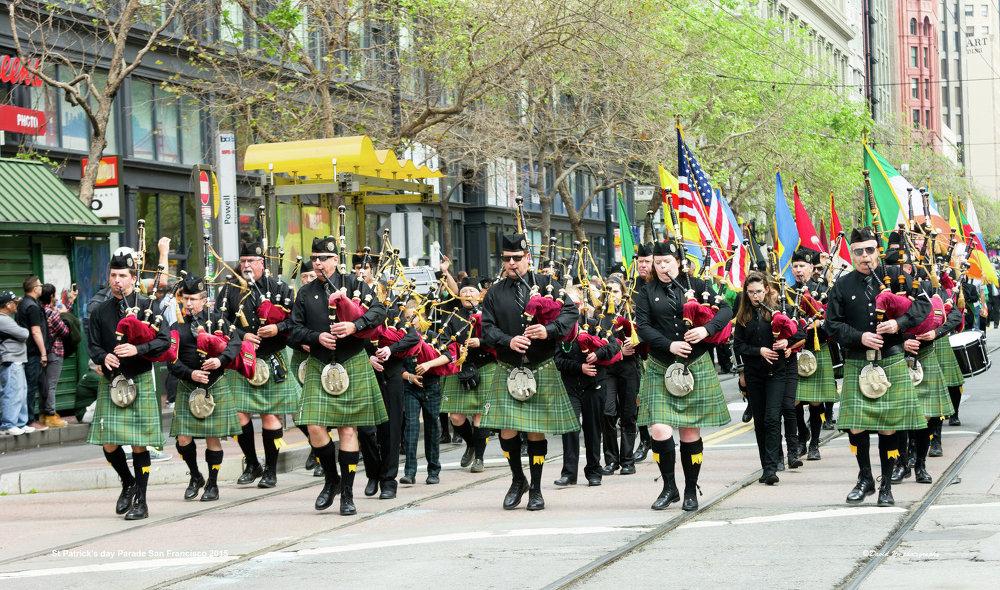 Celebrações do Dia de São Patrício em São Francisco atraem cerca de 100 mil pessoas cada ano, sendo um dos maiores eventos na cidade
