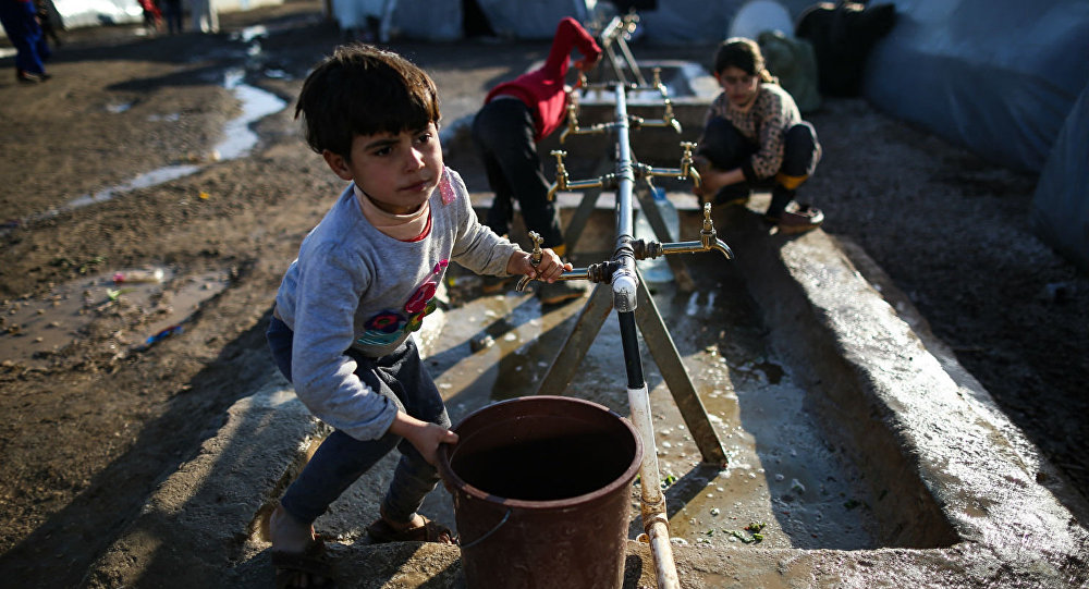 Crianças sírias refugiadas na Turquia.