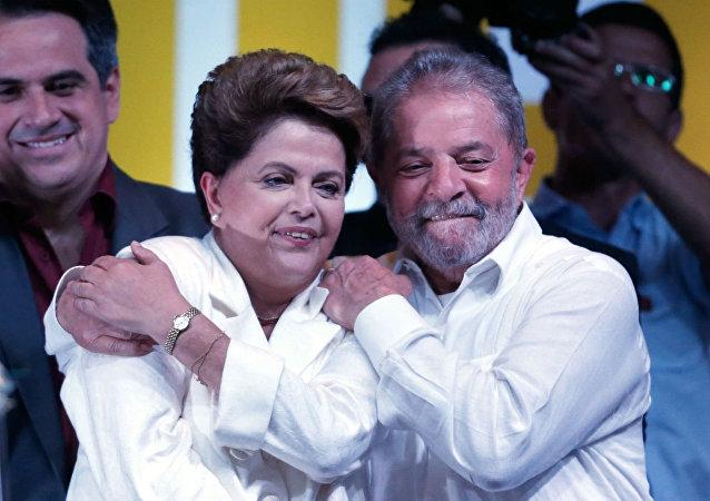 Dilma Rousseff e Luiz Inácio Lula da Silva, ex-presidentes do Brasil (arquivo)