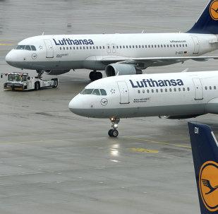 Aviões da companhia alemã Lufthansa