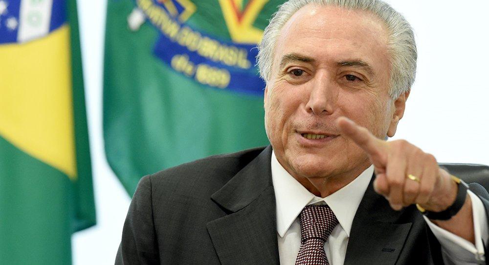Michel Temer, presidente do Brasil (arquivo)