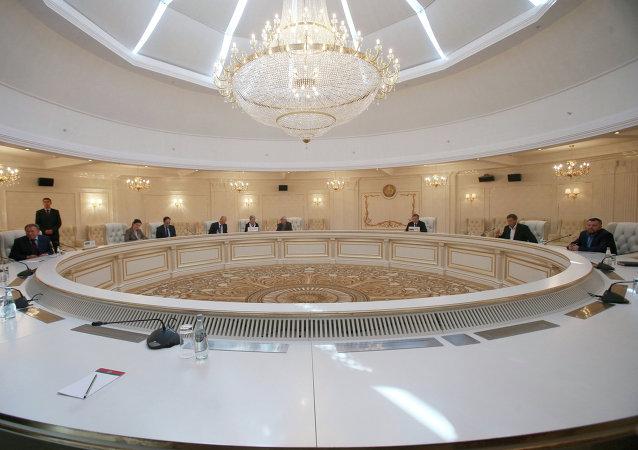 Reunião trilateral do grupo de contato para a Ucrânia