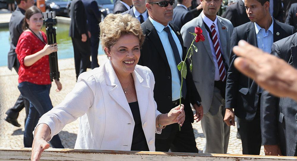 Dilma Rousseff, presidenta afastada do Brasil