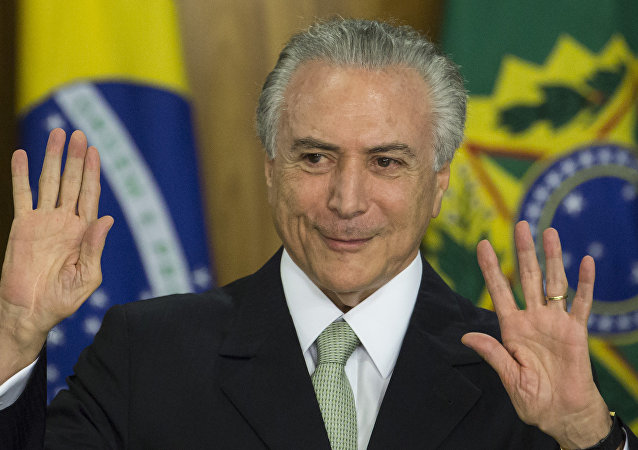 Presidente interino, Michel Temer.