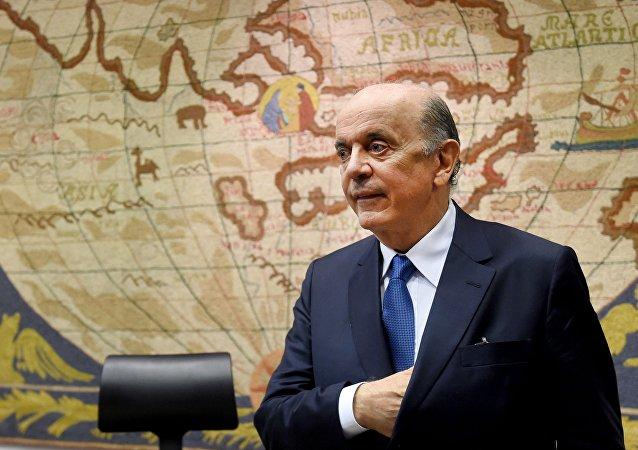 José Serra, chanceler do governo provisório Temer