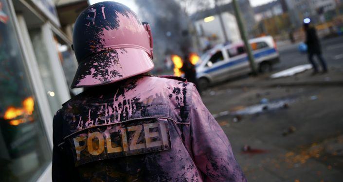 Protesto contra Banco Central Europeu em Frankfurt