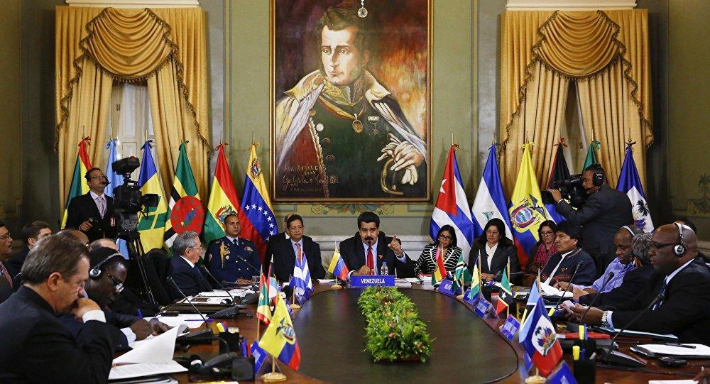 Reunião da Alba, em Caracas.