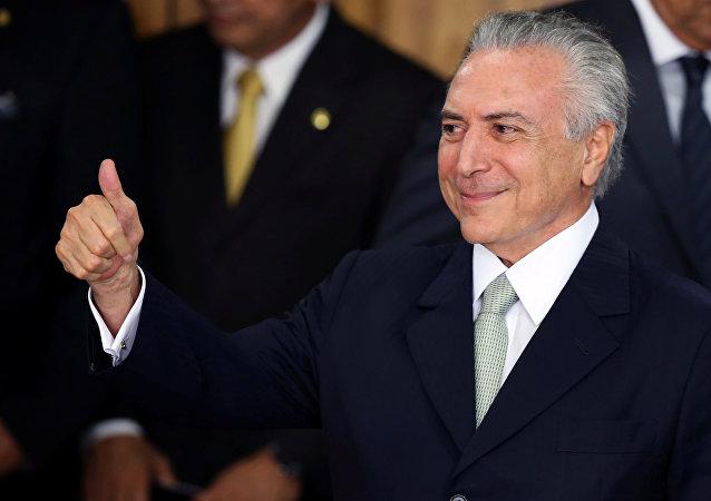 Michel Temer, presidente do Brasil, foi acusado de autorizar a compra do silêncio do deputado cassado Eduardo Cunha