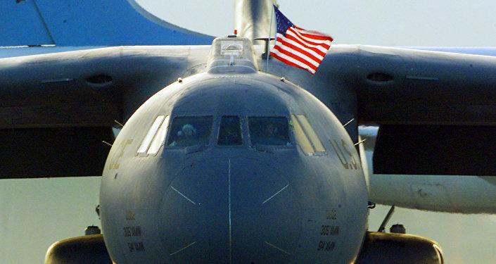 Foto de arquivo, como exemplo: Avião da Força Aérea dos EUA pousa na base aérea Ramstein na Alemanhã