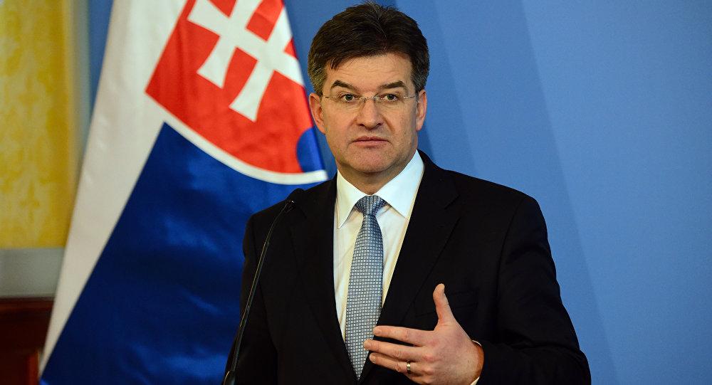 Miroslav Lajcak, ministro das Relações Exteriores da Eslováquia