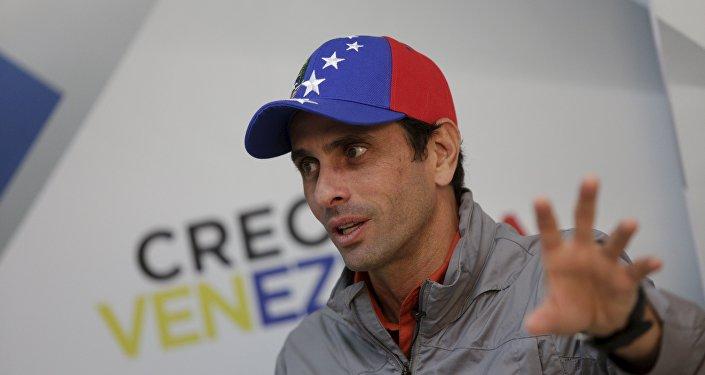 Henrique Capriles, líder da oposição venezuelana