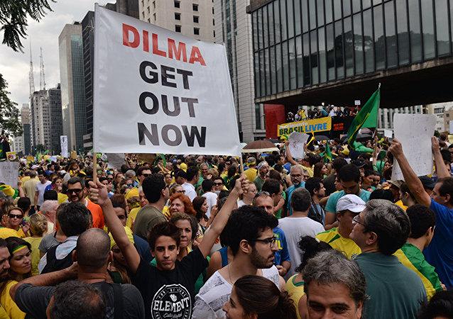Protesto contra a presidenta Dilma Rousseff em São Paulo