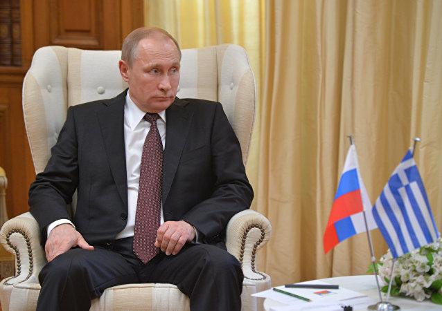 Vladimir Putin, presidente da Rússia, durante visita a Atenas em maio de 2016