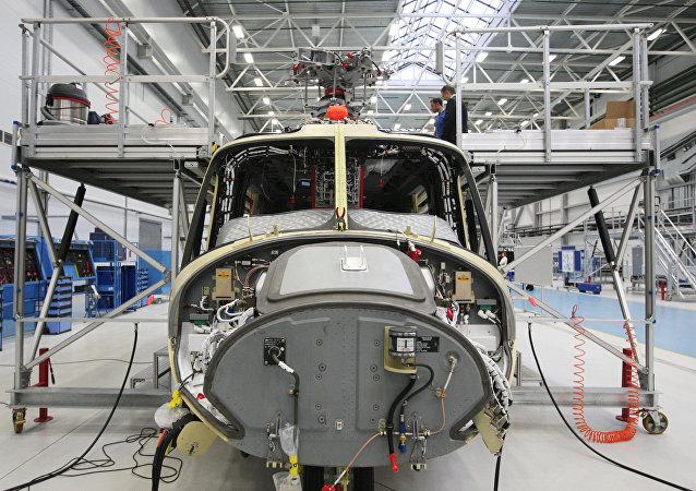 Helicóptero AW 139, da Agusta Westland, empresa afiliada da Finmeccanica