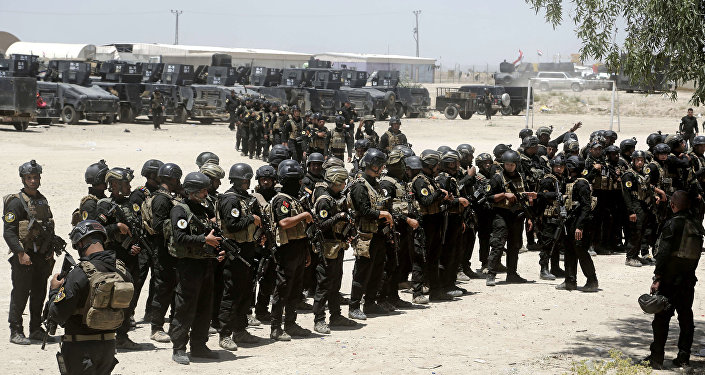Tropas de elite da divisão de contraterrorismo do Iraque se preparam para retomar Fallujah das mãos do Daesh