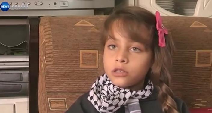 a mais nova jornalista da Palestina, Janna Jihad
