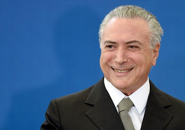 Michel Temer, presidente interino do Brasil