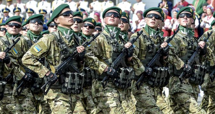 Desfile militar em Kiev no Dia da Independência da Ucrânia