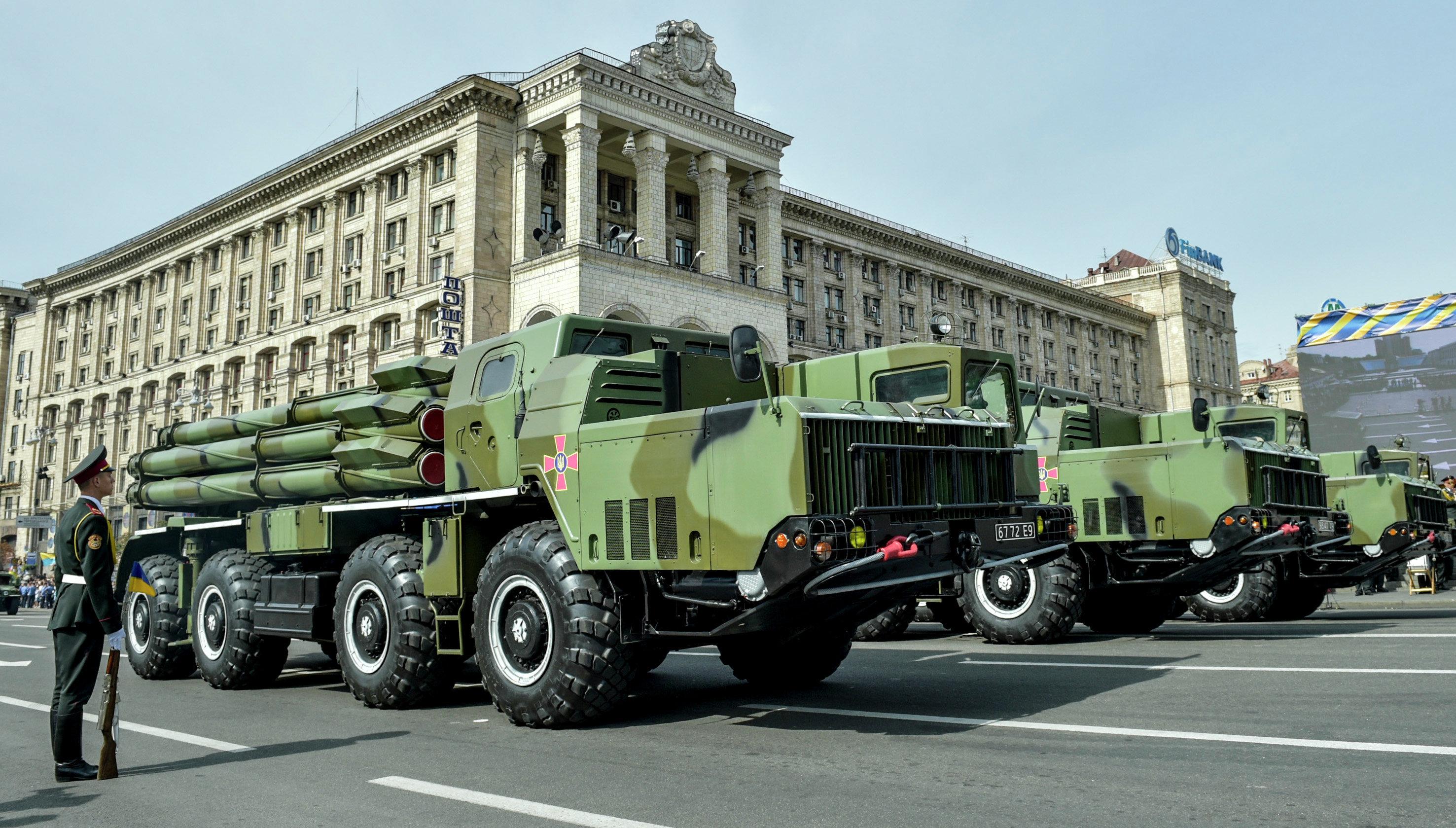Parada militar em Kiev no Dia da Independência da Ucrânia
