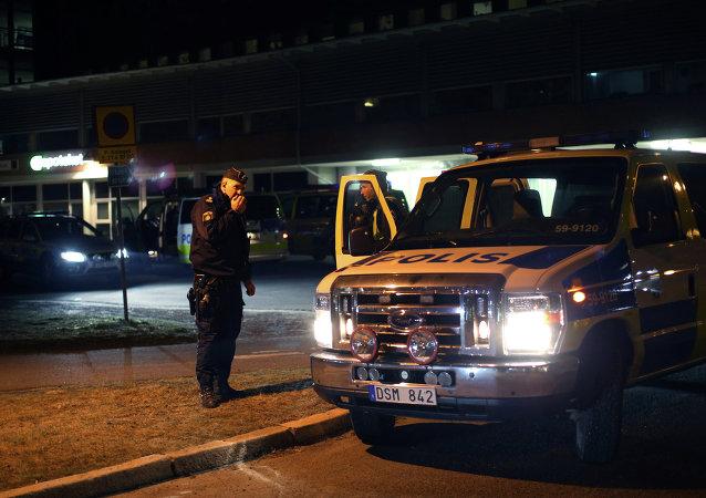 Veículo da polícia em Gotemburgo, na Suécia (arquivo)