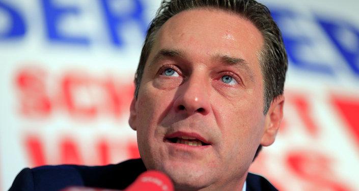 Líder do partido FPO,  Heinz-Christian Strache