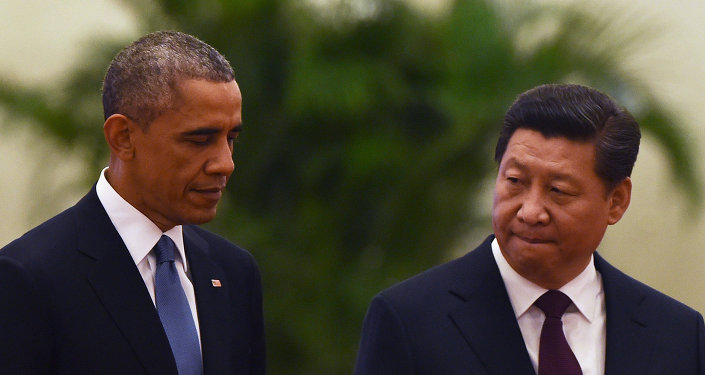 Presidente dos EUA Barack Obama com o presidente chinês Xi Jinping