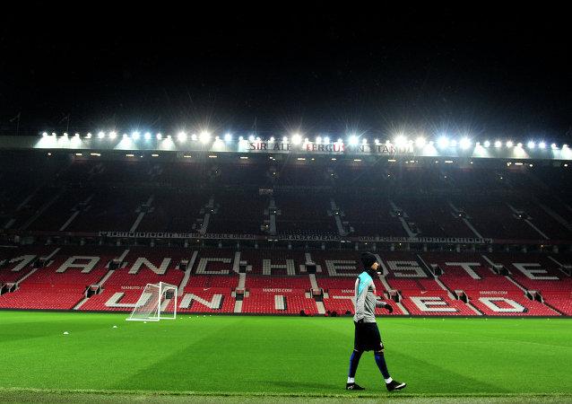 O futebolista português Cristiano Ronaldo treina em Manchester, Inglaterra, em 17 de novembro, 2014