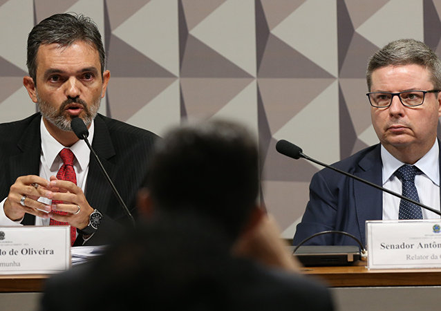 Procurador Júlio Marcelo de Oliveira, do TCU, na Comissão Especial do Impeachment.