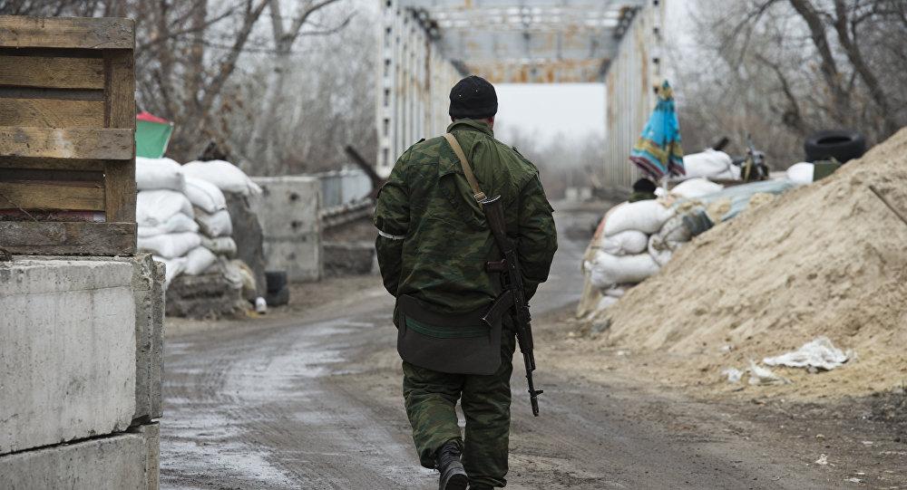 Ponte sobre o Rio Donets, nos arredores de Stanitsa Luganskaya