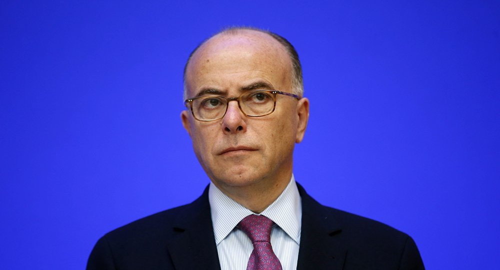 French Interior Minister Bernard Cazeneuve attends a news conference on COP21 World Climate Summit security