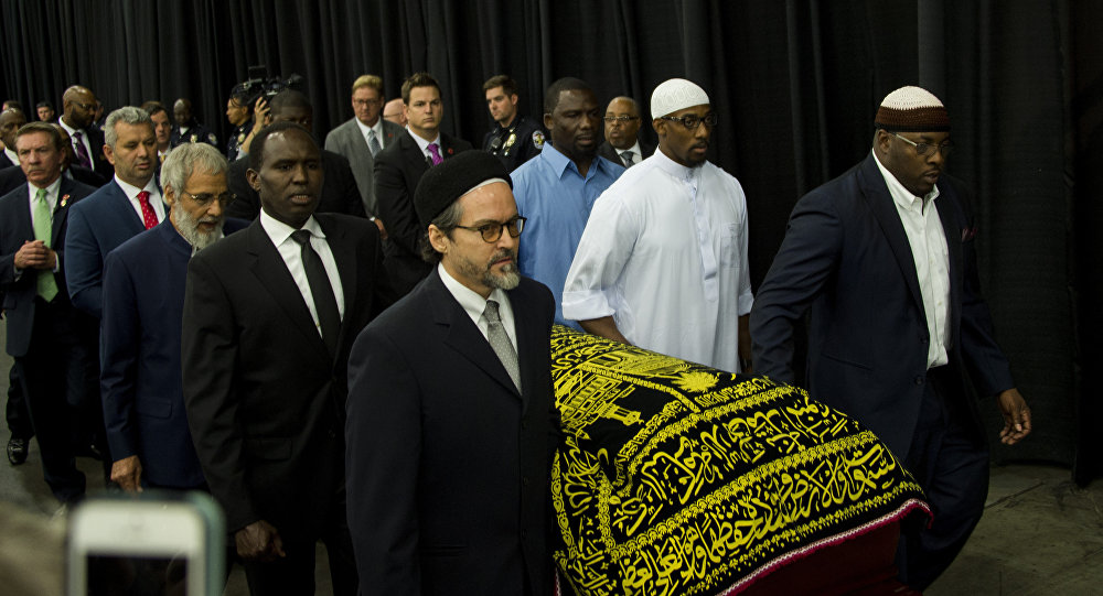 Funeral de Muhammad Ali no Freedom Hall, Louisville, Kentucky