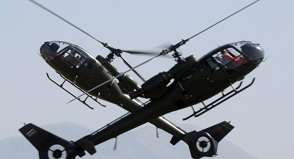Helicópteros militares do Montenegro, Podgoritsa, outubro de 2014 (foto de arquivo)
