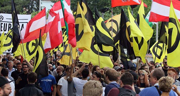 Confrontos entre extrema direita e antifascistas em Viena, Áustria