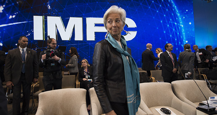 A diretora-gerente do Fundo Monetário Internacional (FMI), Christine Lagarde. 16 de abril, 2016