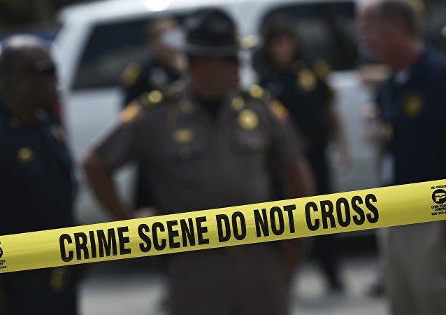 Polícia norte-americana em cena de crime