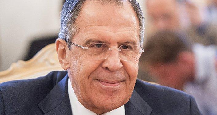 O ministro das Relações Exteriores russo Sergei Lavrov
