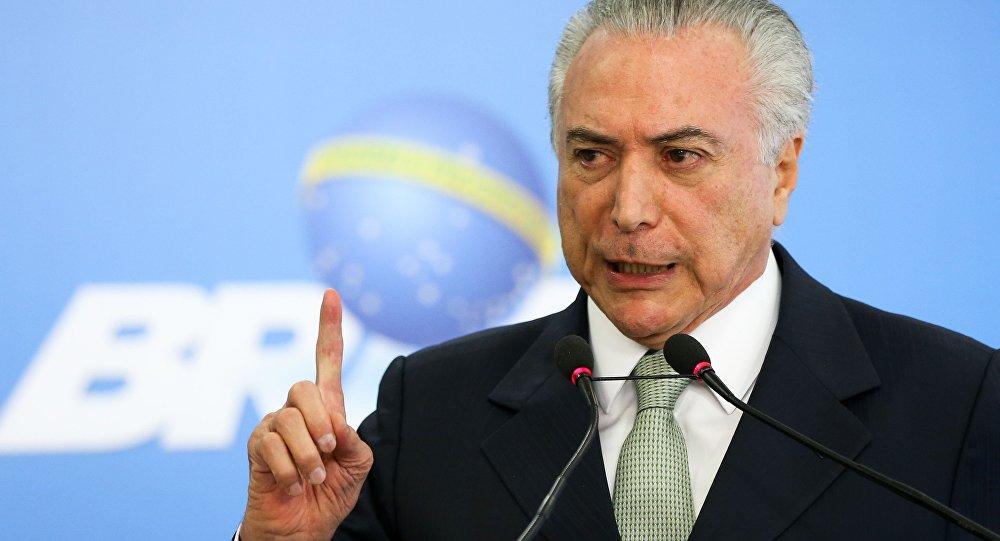 Michel Temer comenta delações de Sérgio Machado
