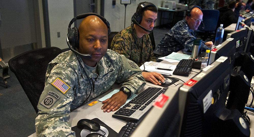 A base da Força Aérea Nellis em 5 de fevereiro, 2014