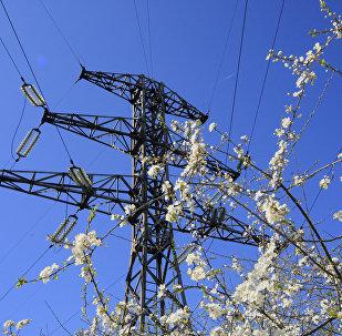 Linha de transmição da energia elétrica