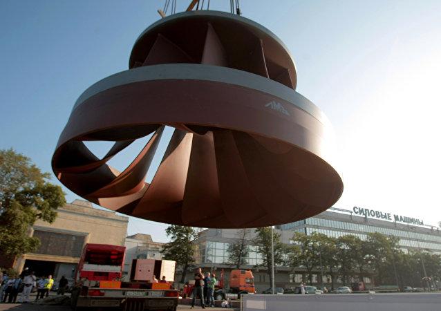 Peça produzida pela Power Mashines para a Hidrelétrica de Boguchany