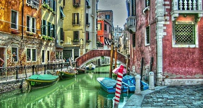 Veneza, a cidade no nordeste da Itália