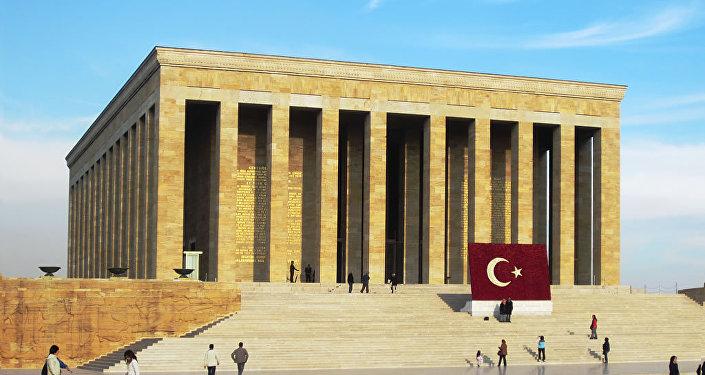 Anitkabir, o mausoléu de Mustafa Kemal Atatürk em Akara, Turquia