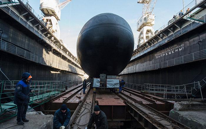 Submarino Veliky Novgorod é entregue à Marinha russa - Sputnik ... - Sputnik Brasil
