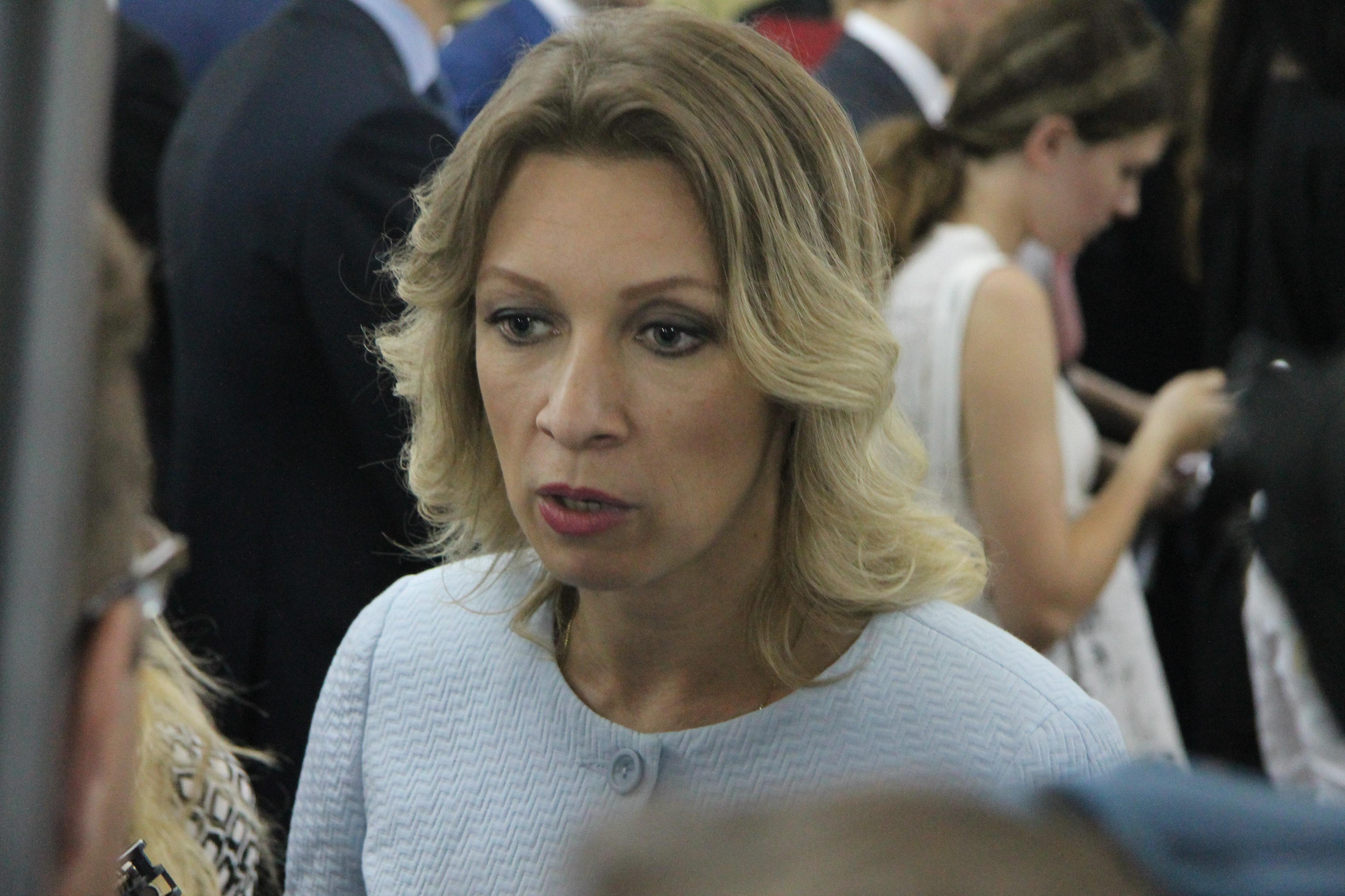 Representante oficial do Minsitério das Relações Exteriores russo Maria Zakharova fala aos jornalistas antes da reunião de embaixadores russos, Moscou, Rússia, 30 de junho de 2016