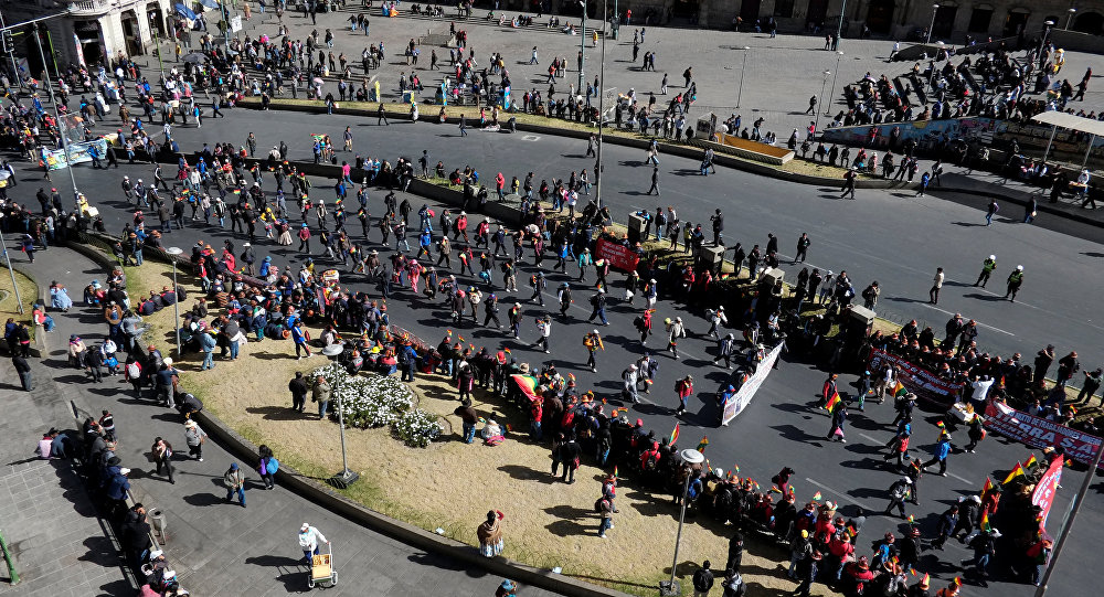 Image result for protestos na bolivia