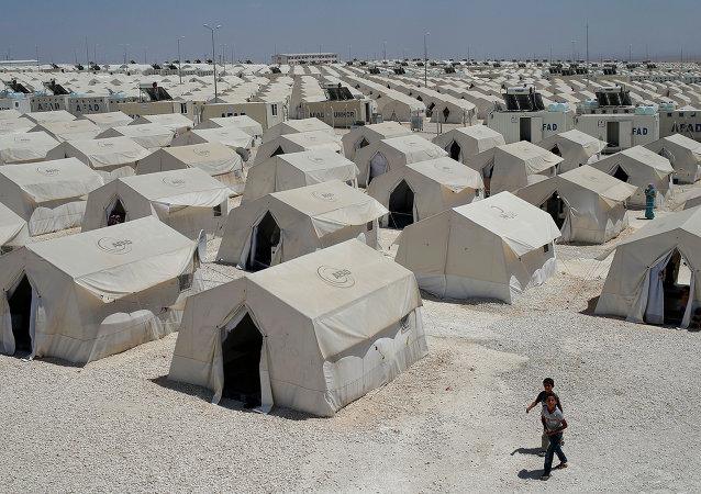 Campo de refugiados em Suruc