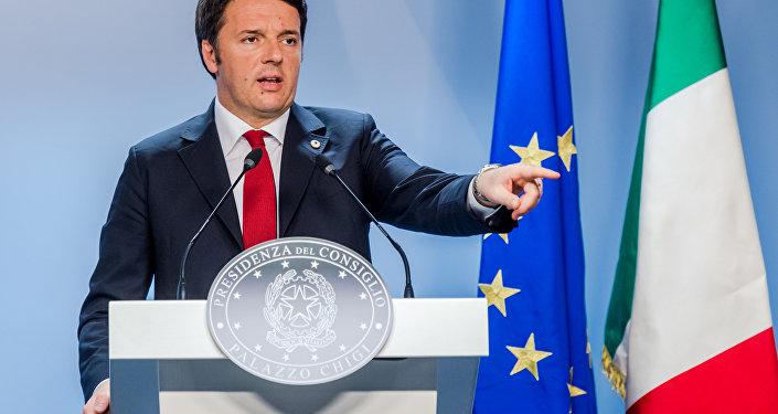 Primeiro-ministro italiano Matteo Renzi (foto de arquivo)