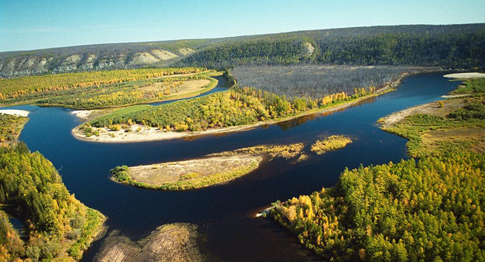 Afluente do Rio Lena, na Iacútia
