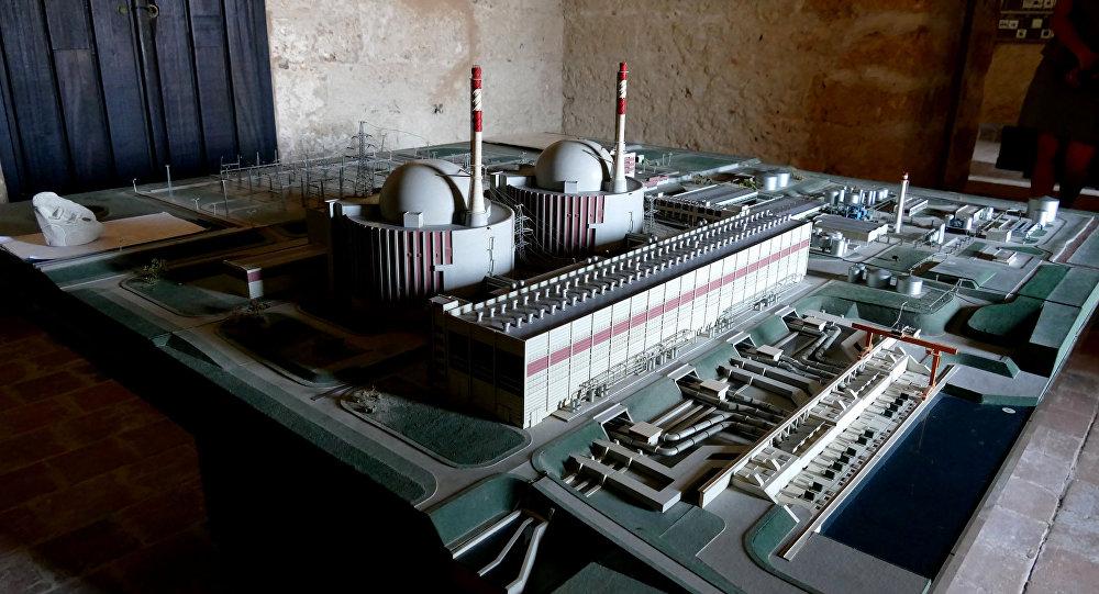 Maquete de usina nuclear
